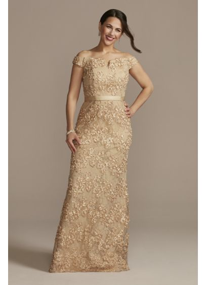 Long Mermaid / Trumpet Off the Shoulder Formal Dresses Dress - Oleg Cassini