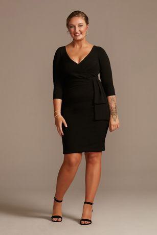 Short Sheath 3/4 Sleeves Dress - Oleg Cassini