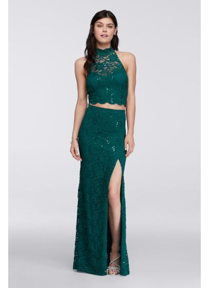 Long Sheath Halter Cocktail and Party Dress - Bee Darlin