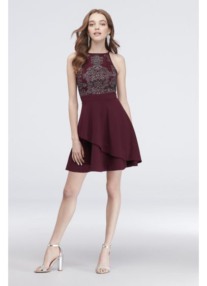 Short A-Line Halter Cocktail and Party Dress - Speechless