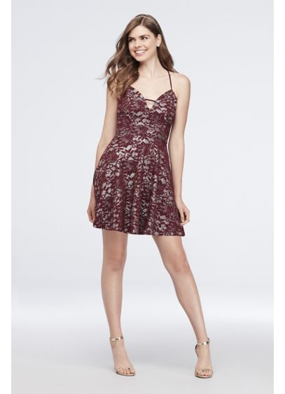 Short A-Line Spaghetti Strap Cocktail and Party Dress -