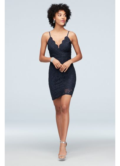 Short Sheath Spaghetti Strap Cocktail and Party Dress - Speechless