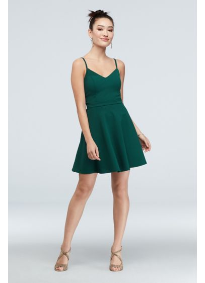 Short Spaghetti Strap Cocktail and Party Dress - Speechless