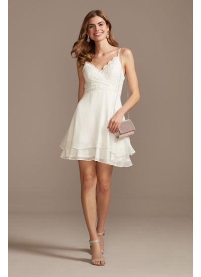 Short A-Line Spaghetti Strap Bridal Shower Dress - Speechless