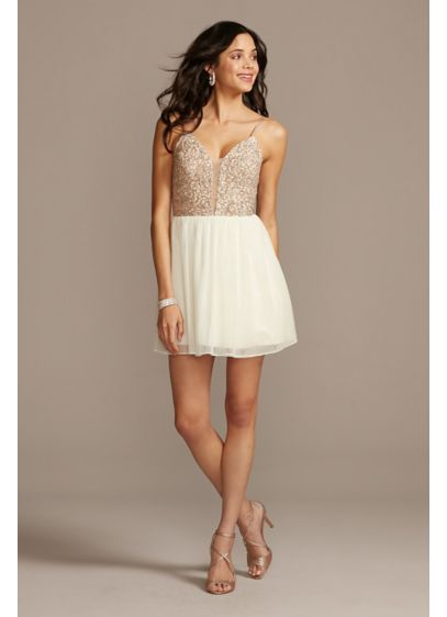 Short A-Line Spaghetti Strap Bridal Shower Dress - Speechless