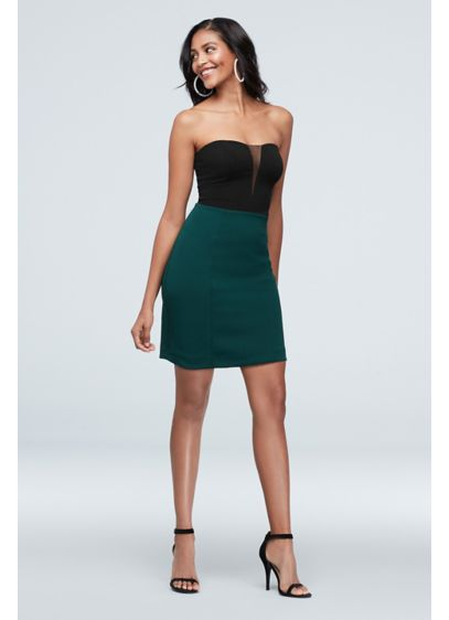 Short Sheath Strapless Cocktail and Party Dress - Speechless