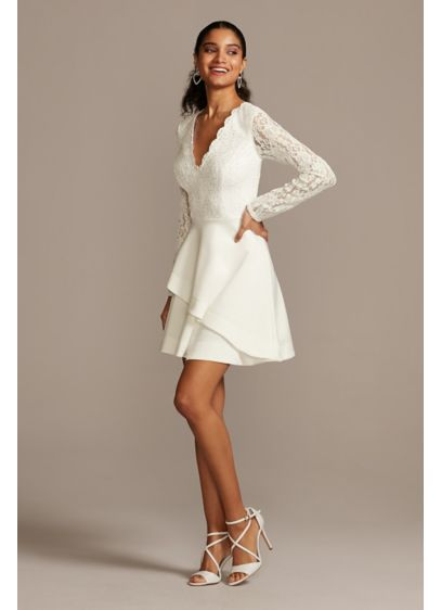 Short A-Line Long Sleeves Bridal Shower Dress - Speechless