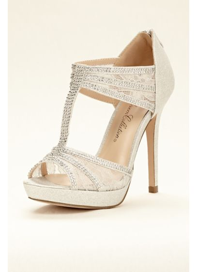 T-Strap and Lace High Heel Sandal - Wedding Accessories