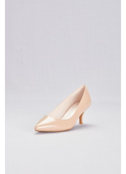 Patent Pointy Toe Kitten Heels - These sleek, shiny kitten heels look equally lovely