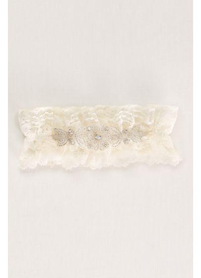 Crystal Embellished Lace Wedding Garter - Wedding Accessories