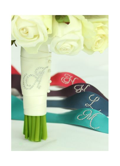 DB Exclusive Rhinestone Initial Bouquet Wrap - Wedding Gifts & Decorations