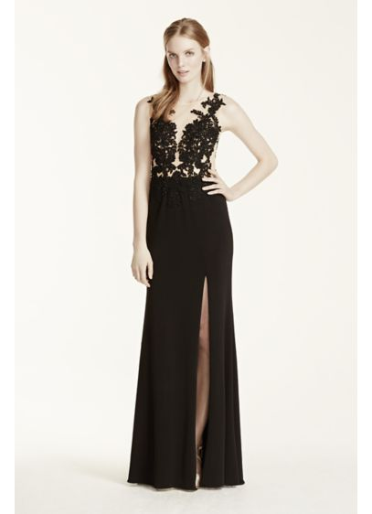 Long Sheath Cap Sleeves Cocktail and Party Dress - Beyond by Jovani
