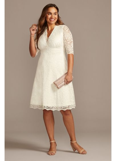 Plus Size Wedding Belle Short Dress - The definition of short and sweet, this knee-length