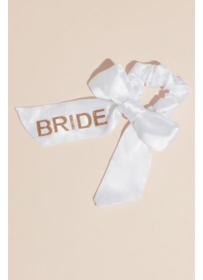 Bride Satin Bow Scrunchie - A cute hair accessory for pool-side at the