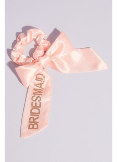 Bridesmaid Satin Bow Scrunchie - A cute hair accessory for pool-side at the