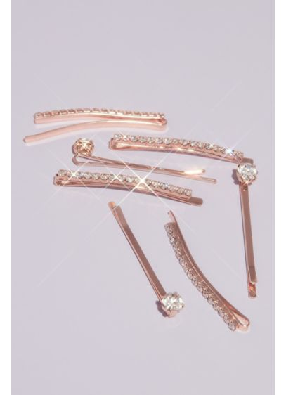 Crystal Embellished Hairpins Set - Add sparkle to your hair style with these