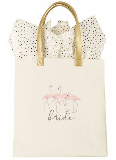 DB Exclusive Bride Flamingo Canvas Tote - The Bride Flamingo Canvas Tote is the perfect