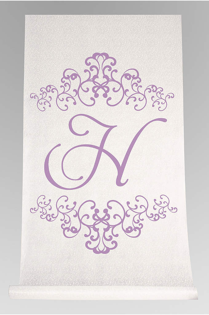 Personalized Watercolor Florish Aisle Runner - Proudly display your last name initial to the