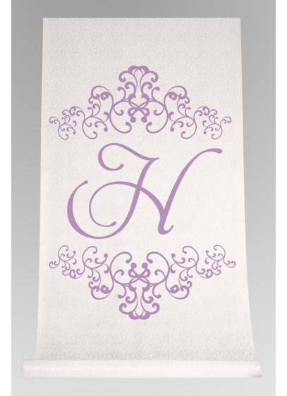Personalized Watercolor Florish Aisle Runner - Wedding Gifts & Decorations