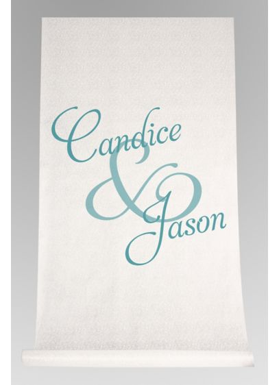 Personalized Watercolor First Names Aisle Runner - Wedding Gifts & Decorations