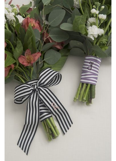 DB Exclusive Personalized Stripe Bouquet Wrap - Wrap your bouquet in this beautiful personalized striped