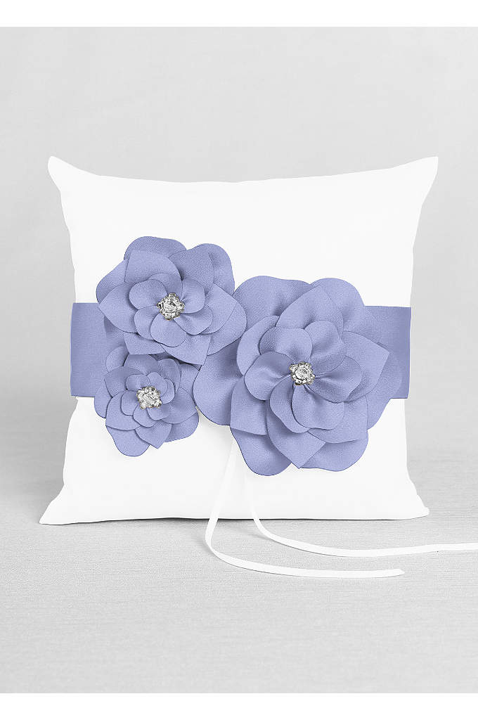 DB Exclusive Floral Desire Ring Pillow - David's Bridal Exclusive ring bearer pillow featuring delicate
