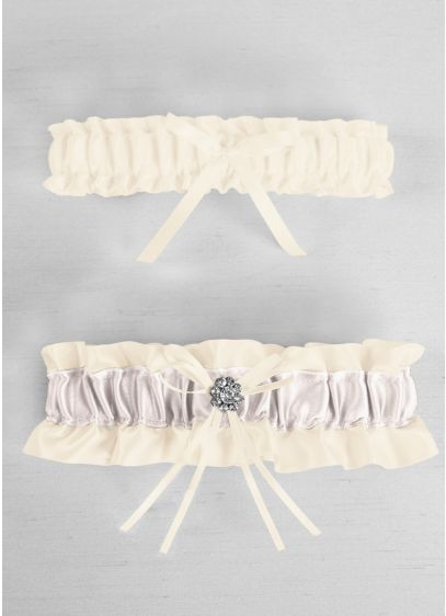 DB Exclusive Plus Size Regal Ties Garter Set - Wedding Accessories