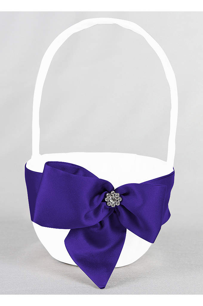 DB Exclusive Regal Ties Flower Basket - David's Bridal Exclusive flower girl basket featuring a