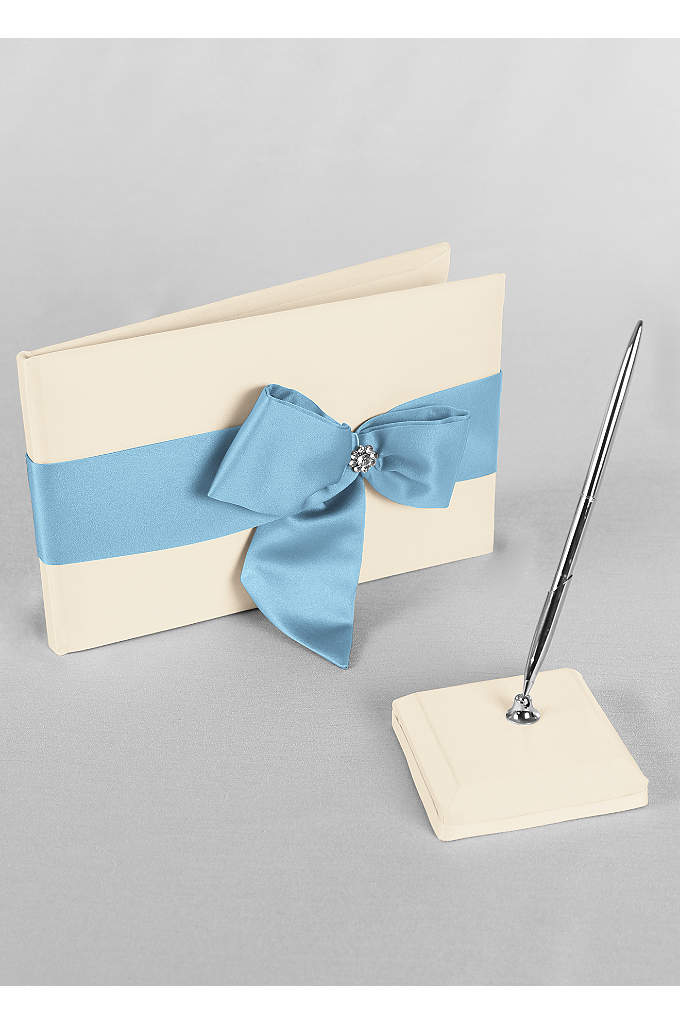 DB Exclusive Regal Ties Guest Book and Pen - David's Bridal Exclusive guest book and pen set