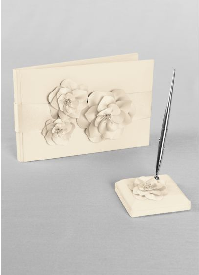 DB Exclusive Floral Desire Guest Book and Pen Set - Wedding Gifts & Decorations