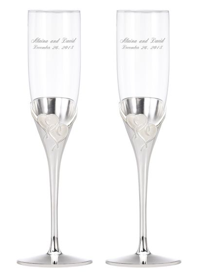 Personalized Lenox True Love Toasting Flutes - Wedding Gifts & Decorations