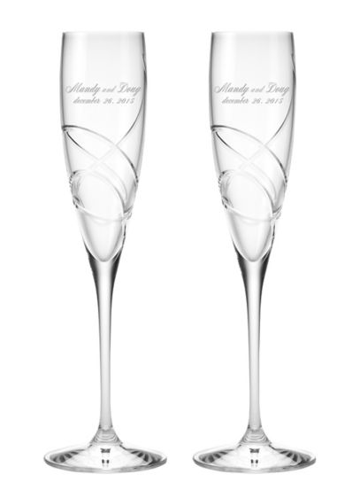 Personalized Lenox Adorn Signature Toasting Flutes - Wedding Gifts & Decorations