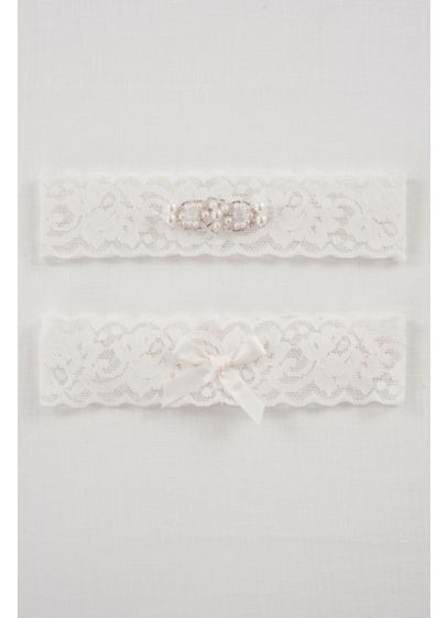 DB Exclusive Lace Elegance Bridal Garter Set - Wedding Accessories
