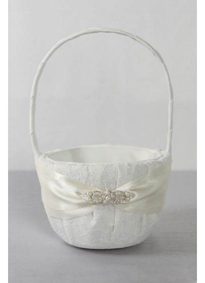 DB Exclusive Lace Elegance Flower Girl Basket - Wedding Gifts & Decorations
