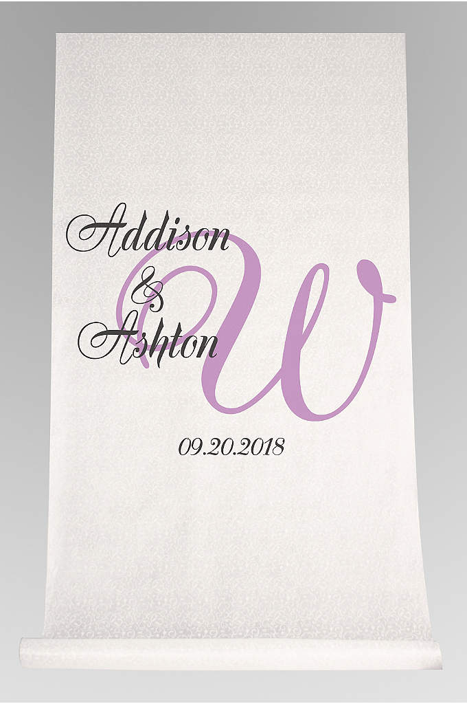 DB Exc Pers Elegant Names and Initial Aisle - With this Elegant Names and Initial Aisle Runner,