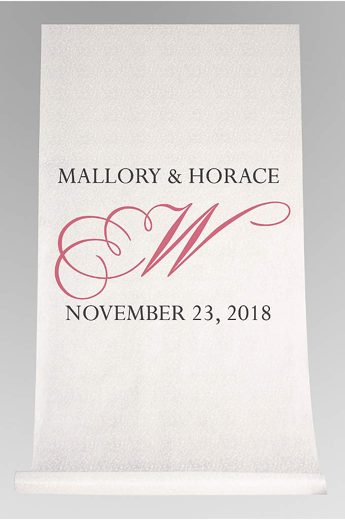 DB Exc Personalized Flourish Initial Aisle Runner - Walk down the aisle in style with this