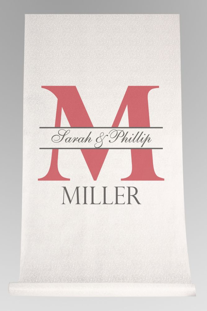 DB Exc Personalized Bold Initial Aisle Runner Style DB91554