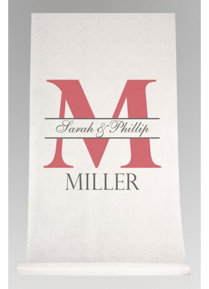 DB Exc Personalized Bold Initial Aisle Runner - Wedding Gifts & Decorations