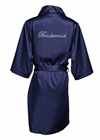 Rhinestone Satin Bridesmaid Robe