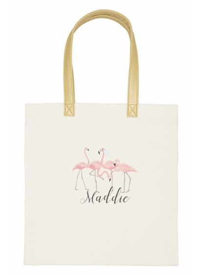 DB Exclusive Personalized Flamingo Canvas Tote - The Personalized Bridesmaid and Bride Flamingo Canvas Totes