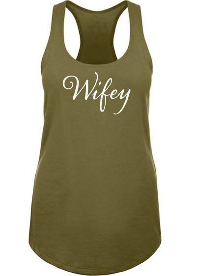 Wifey Racerback Tank Top - Wedding Gifts & Decorations