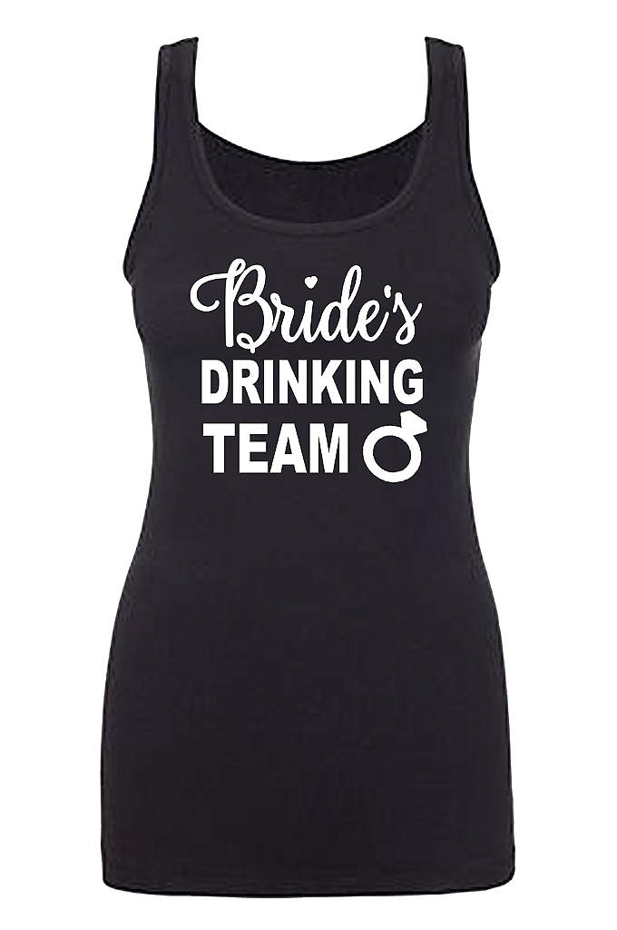 Bride's Drinking Team Fitted Tank Top - Coordinate your Bride's Drinking Team Fitted Tank Tops