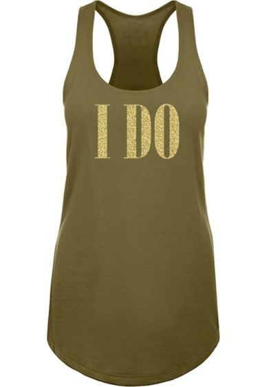 Glitter I Do Racerback Tank Top - Wedding Gifts & Decorations