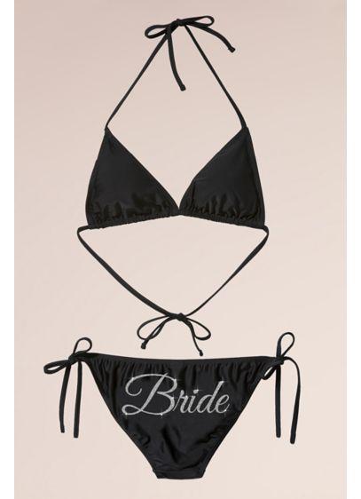 White (Glitter Print Bride Bikini)