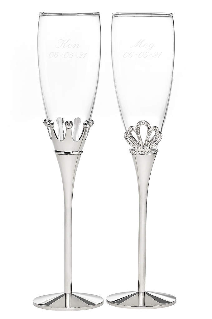 Personalized Fairytale Flutes - Enjoy your first toast as bride and groom