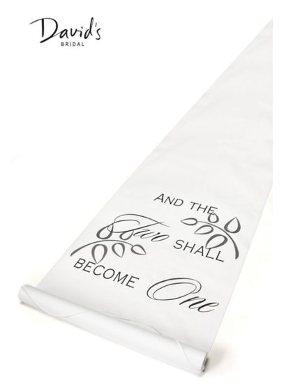 Two Shall Become One Aisle Runner - Wedding Gifts & Decorations