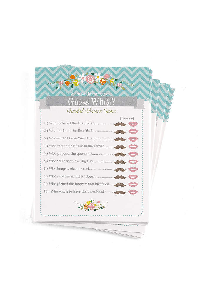 Guess Who Newlywed Game Pack of 25 - How well do guests know the Bride and