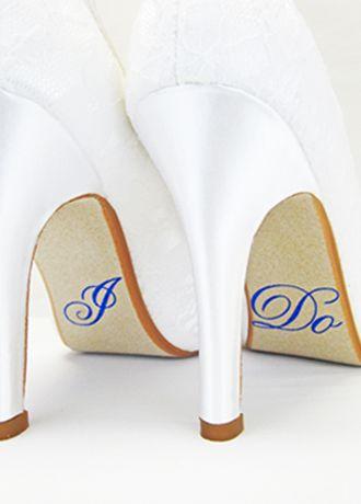 """David's Bridal Blue;Grey (Hologram """"I Do"""" Shoe Stickers)"""