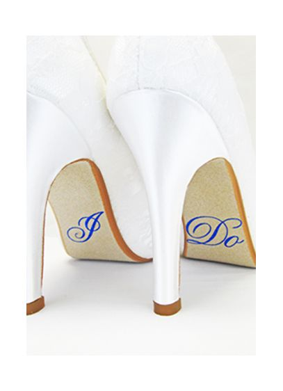 David's Bridal Grey (Hologram 'I Do' Shoe Stickers)