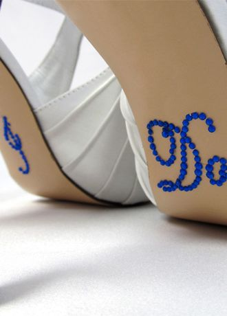 David's Bridal Black;Blue;Green;Orange;Pink;Purple;White;Yellow (I Do Shoe Stickers)